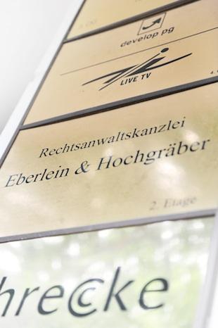 Kanzleischild Eberlein & Hochgräber